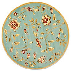 Safavieh Tobin Blue/Multi 5-Foot 3-Inch Round Rug