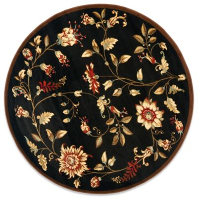 Safavieh Tobin Black/Multi 5-Foot 3-Inch Round Rug