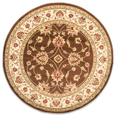 Safavieh Vanity Brown/Ivory 5-Foot 3-Inch Round Rug
