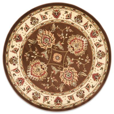 Prescott Brown/Ivory 5-Foot 3-Inch Round Rug