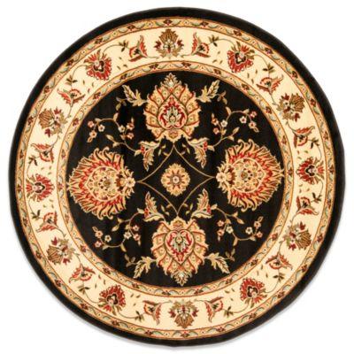Safavieh Prescott 5-Foot 3-Inch Round Rug in Black/Ivory