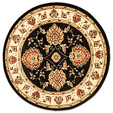 Safavieh Prescott 5-Foot 3-Inch Round Rug in Black/Ivory