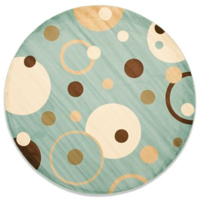 Safavieh Vera Blue/Multi 7-Foot Round Rug
