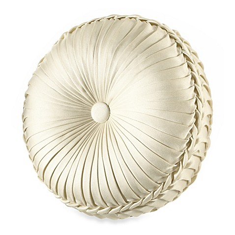 Tufted Round Decorative Pillow : J. Queen New York Olympia Tufted Round Throw Pillow - Bed Bath & Beyond