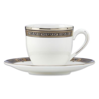 Lenox® Vintage Jewel® Demitasse Cup and Saucer in White