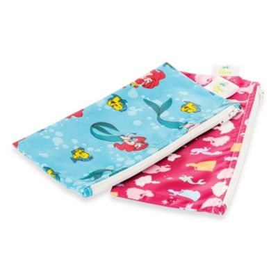 Bumkins® Disney Baby® Disney Princess Small Reusable Snack Bag 2-Pack in Blue/Pink