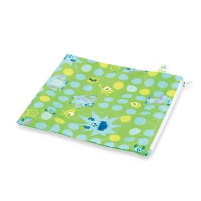 Bumkins® Disney Baby® Monsters Inc. Large Reusable Single Snack Bag in Green