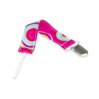 Bumkins® Pink Fizz Pacifier Clip