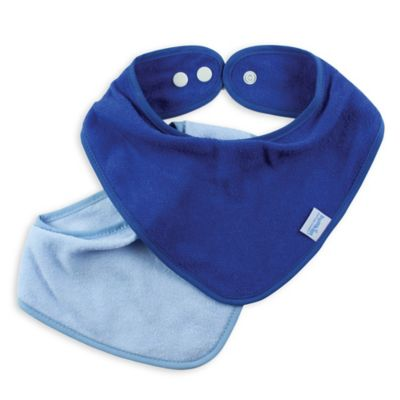 2-Pack Bandana Bib in Blue