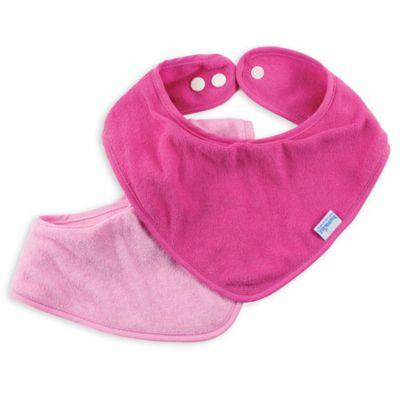 Bumkins® 2-Pack Bandana Bib in Pink
