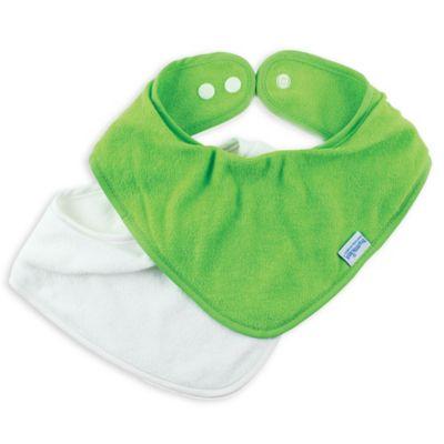 Bumkins® 2-Pack Bandana Bib in Green
