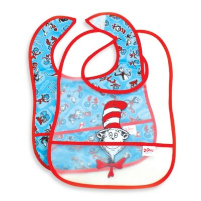 Bumkins® 2-Pack Easy Wipe Bib in Cat in the Hat
