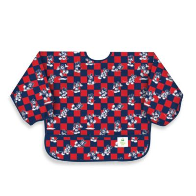 Disney Baby Mickey Mouse Blue Waterproof Long Sleeved Bib from Bumkins®