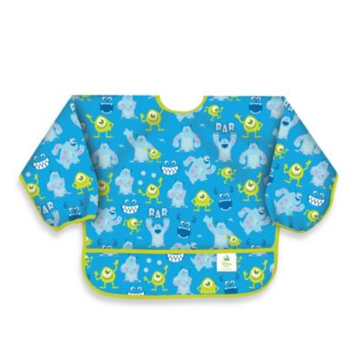 Disney Baby MONSTERS, INC. Blue Waterproof Long Sleeved Bib from Bumkins®