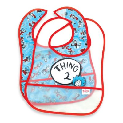 2-Pack Easy Wipe Bib in Thing 2