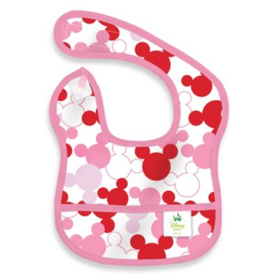 Disney Baby Mickey Mouse Pink Starter Bib from Bumkins®
