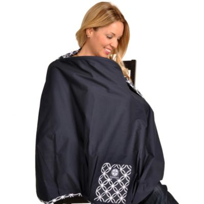 Balboa Baby® Nursing Cover in Navy/White
