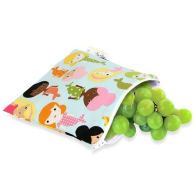 Itzy Ritzy® Snack Happens™ Medium Reusable Snack and Everything Bag in Green Mermaids Galore