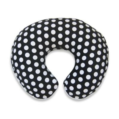 Boppy® Printed Plush Slipcover in Black/White Dot