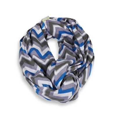 Itzy Ritzy® Nursing Happens™ Infinity Breastfeeding Scarf in Blue