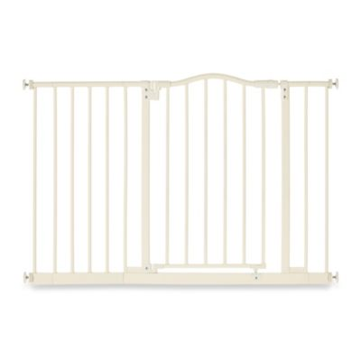 North States Tall & Wide Portico Arch Gate in Linen