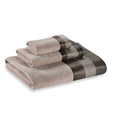 Metallic Stripe Hand Towel