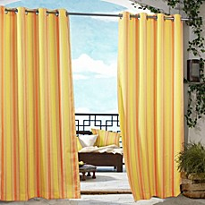Commonwealth Home Fashions Gazebo Striped Outdoor Curtain
