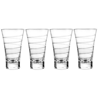 Qualia Vortex Highball Glasses (Set of 4)