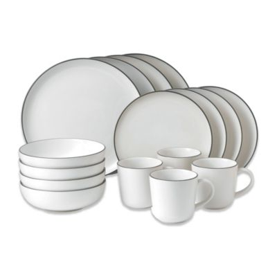 Gordon Ramsay by Royal Doulton Bread Street White 16-Piece Dinnerware Set