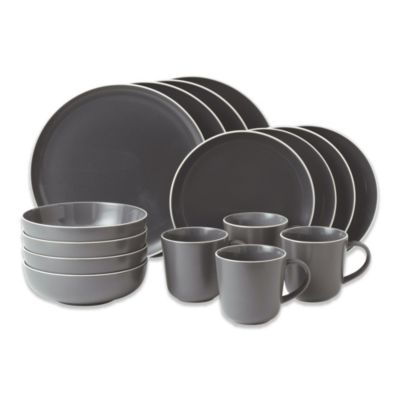 Gordon Ramsay by Royal Doulton Bread Street Slate 16-Piece Dinnerware Set