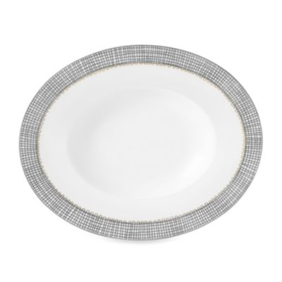 Vera Wang Wedgwood® Gilded Weave Open Oval Vegetable Platter in Platinum