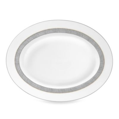 Vera Wang Wedgwood® Gilded Weave Oval Platter in Platinum