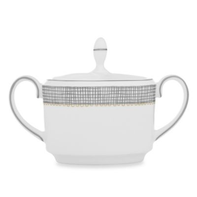 Vera Wang Wedgwood® Gilded Weave Imperial Covered Sugar Bowl in Platinum