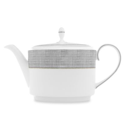 Vera Wang Wedgwood® Gilded Weave Covered Teapot in Platinum