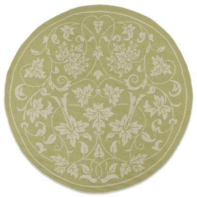 Kaleen Presley 7-Foot 9-Inch Round Indoor/Outdoor Rug in Celery