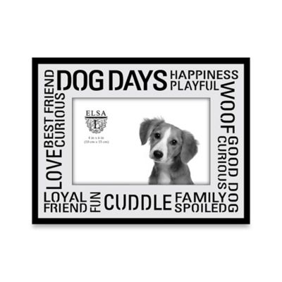 Elsa L 4-Inch x 6-Inch Dog Days Sentiment Frame