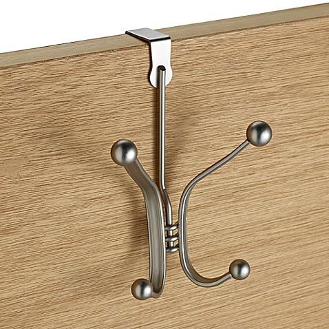 Buy interdesign york over the door quad hook from bed for Interdesign york
