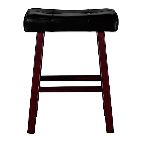 Buy Ampersand 24 Inch Padded Saddle Stool from Bed Bath