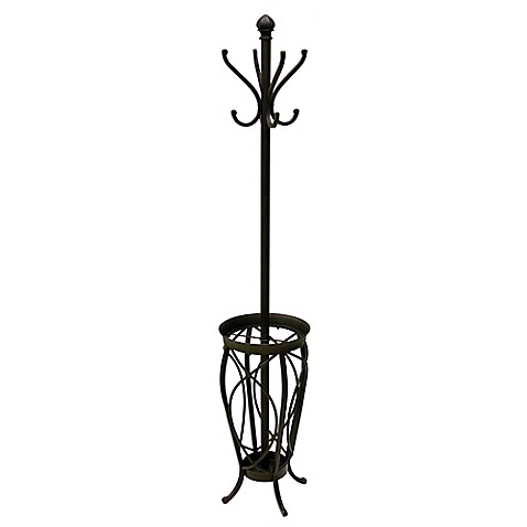 ampersand charleston standing coat rack in black bed bath beyond. Black Bedroom Furniture Sets. Home Design Ideas