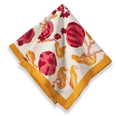 buy couleur nature pomegranate napkin in yellow red from. Black Bedroom Furniture Sets. Home Design Ideas