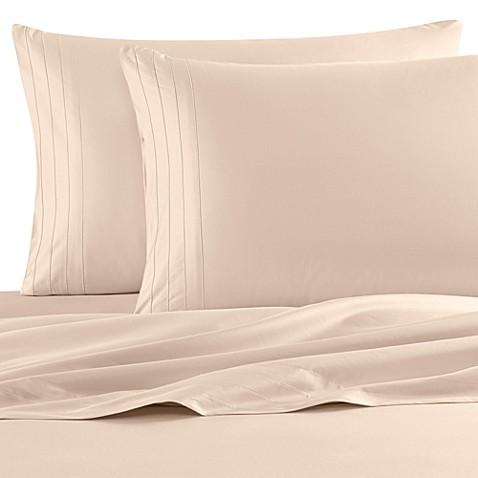 buy barbara barry dream satin tux sheet set from bed bath