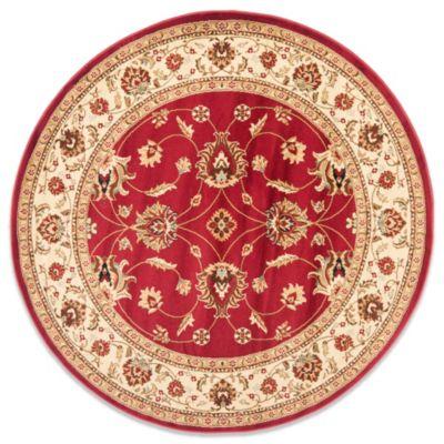 Safavieh Vanity Red/Ivory 5-Foot 3-Inch Round Rug