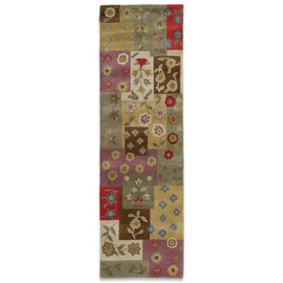 Kaleen Patchwork 2-Foot 3-Inch x 7-Foot 6-Inch Runner in Ivory