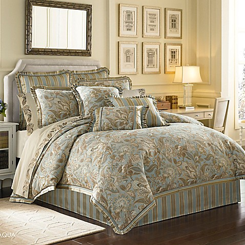 J Queen New York Alicante Comforter Set In Aqua Www