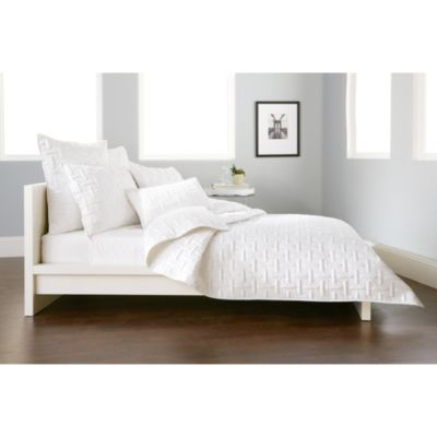 DKNY Crosstown Standard Pillow Sham in White