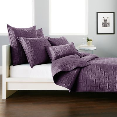 DKNY Crosstown Pillow Sham in Plum