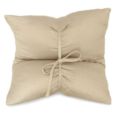 DKNYpure Pure Indulge Matelassé Square Toss Pillow in Linen