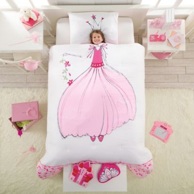 Princess Reversible Twin Comforter Set