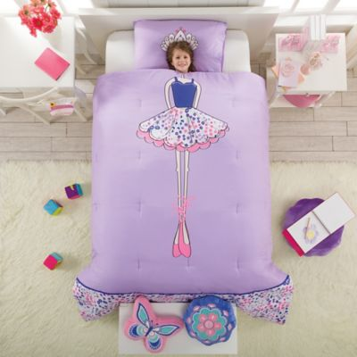 Ballerina Reversible Twin Comforter Set in Lavender