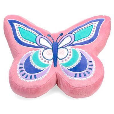 Ballerina Butterfly Throw Pillow